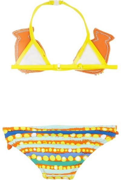 Tuc Tuc Desenli Bikini Fresh Oranj Desenli