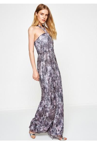 Koton Kadın Desenli Elbise Mor