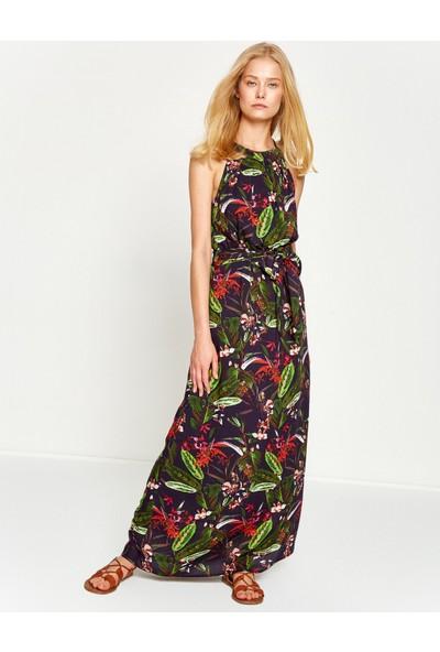 Koton Kadın Çiçekli Elbise Yeşil