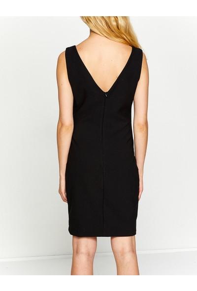 Koton Kadın Desenli Elbise Siyah