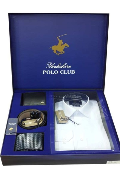 Polo Club 4'Lü Kemer Gömlek Kravat Damat Set