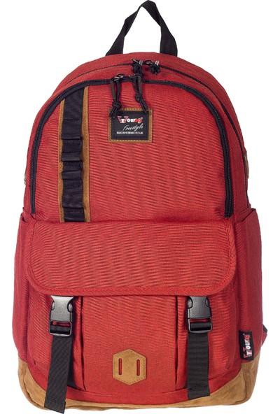 Young Kumaş Sırt Çantası YG51065 Kırmızı