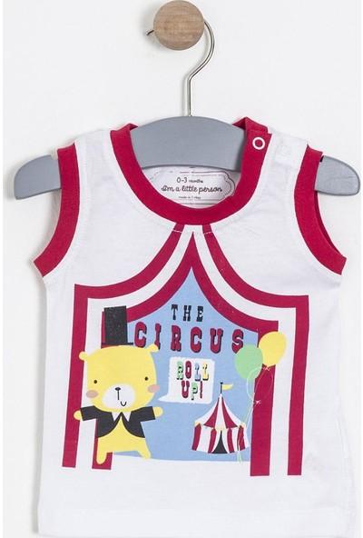 Soobe Erkek Bebek Kolsuz T-Shirt Vişne