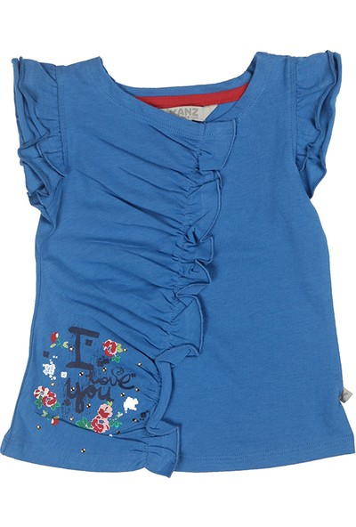 Kanz Kız Çocuk 143-3011 T-Shirt Kısa Kol
