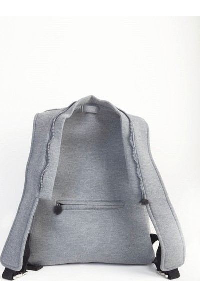 Morikukko Basic Grey Black Sırt Çantası