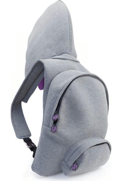 Morikukko Basic Grey Purple Sırt Çantası