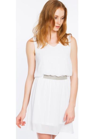Bexy Ravenna Şifon Beyaz Elbise