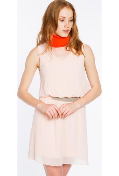 Bexy Ravenna Şifon Pudra Elbise