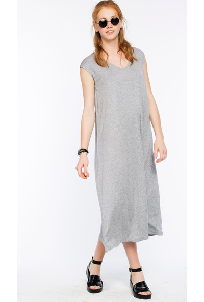Bexy Pescara Gri Üç Renk Basic Elbise