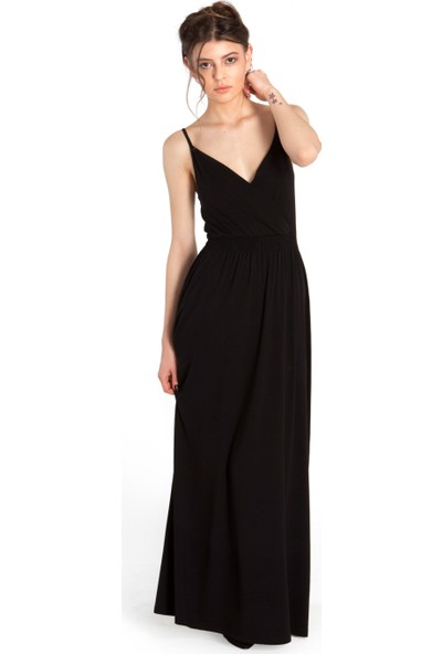 Bexy Eliesha V Yakalı Siyah Elbise