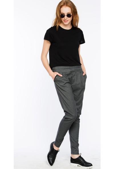 Bexy Modena Önden Düğmeli Scuba Kumaştan Siyah Pantolon