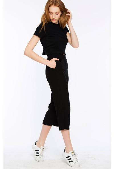 Bexy Sırakuza Rahat Kesim Siyah Pantolon