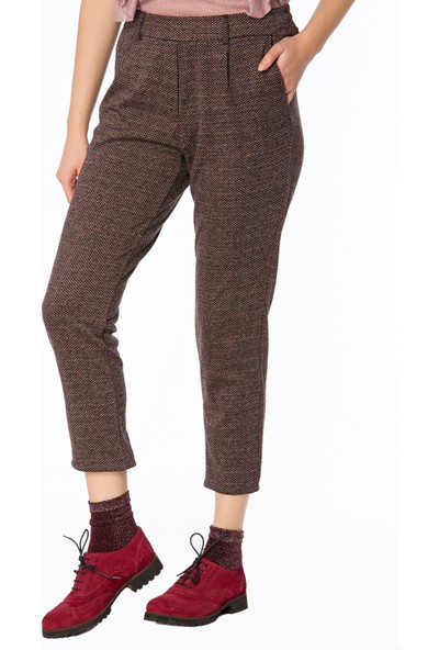 Bexy Segovia Mini Jakarlı Bordo Pantolon