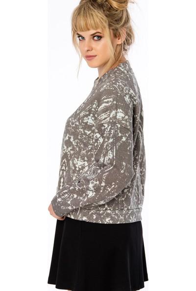 Bexy Lima Koton Gri Sweatshirt