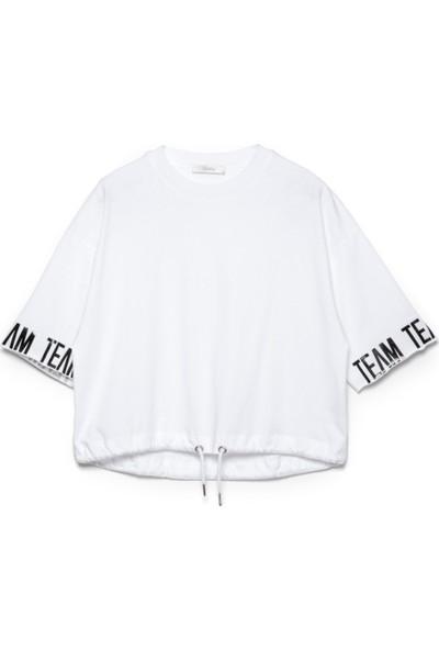 Bexy Alan Basic Beyaz Tişört