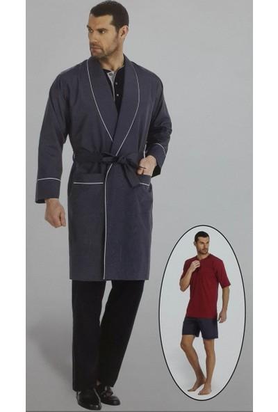 Pierre Cardin 5560 Erkek Çeyizlik Uzun Kollu Pijama Ropdöşambır Set