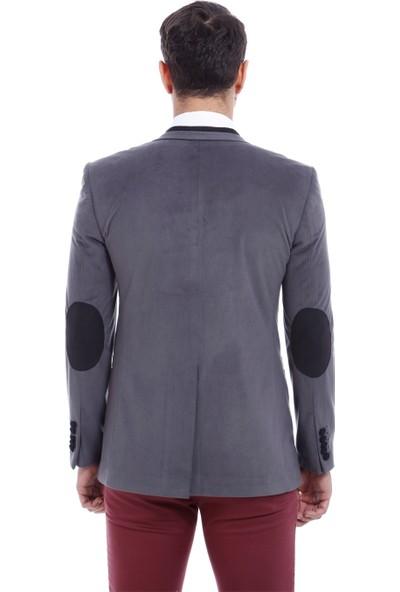 Wss Wessi İki Düğme Velvet Ceket