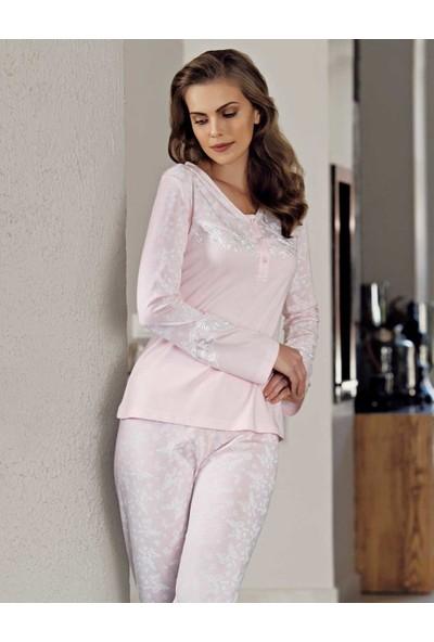 Şahinler Bayan Pijama Takımı Açık Pembe MBP23719-1