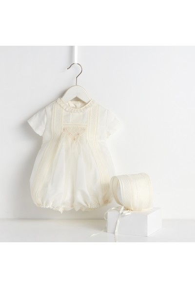 Bebecocon Kız Çocuk Prince Elbise Ekru