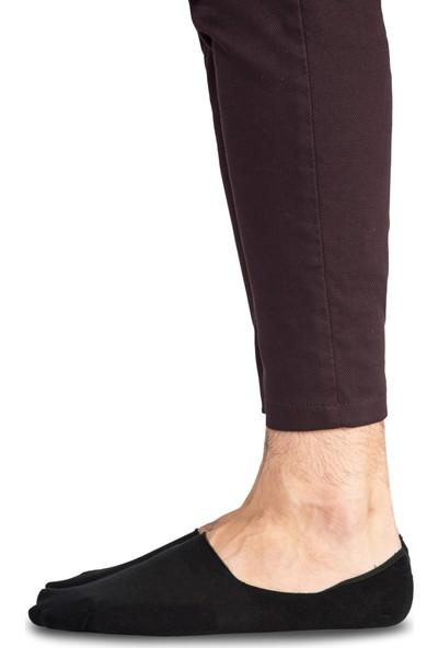 Soft Grıp Erkek 6'Lı Paket Kaydırmaz Silikon Bantlı Babet Çorap