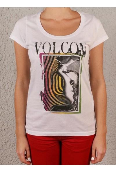 Volcom Matt French Face Ss Wht Kadın T-Shirt