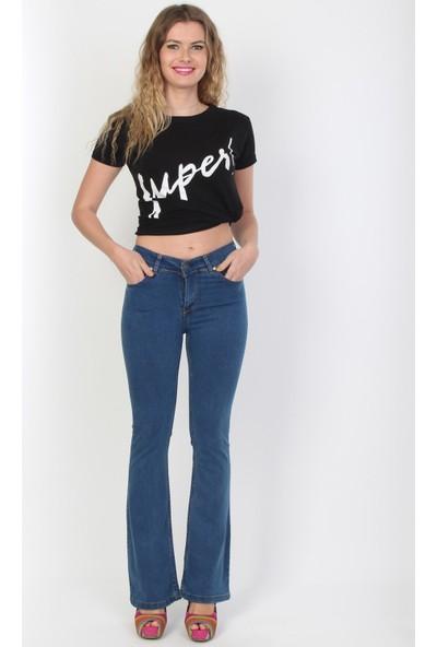 E-Giyimsepeti Bol Paça Geniş Bayan Pantolon