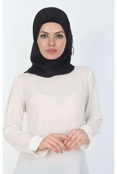 E-Giyimsepeti Düz Siyah Bayan Şal