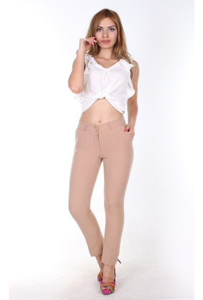 E-Giyimsepeti E Giyim Sepeti Bilek Boy Bayan Kumaş Pantolon Taş