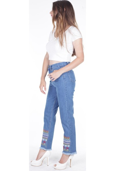 E-Giyimsepeti Kilim Bayan Mom Pantolon