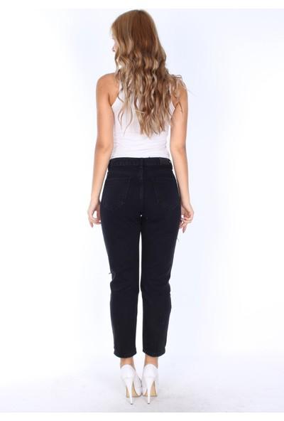 E-Giyimsepeti Siyah Bayan Kot Pantolon