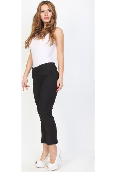 E-Giyimsepeti Siyah Bilek Boy Kumaş Pantolon