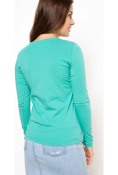 DeFacto Baskılı Uzun Kollu Sweatshirt