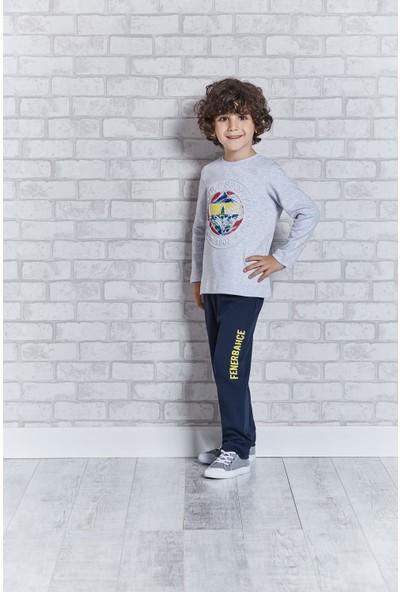 Fenerbahçe Lisanslı Erkek Çocuk Pijama Takımı Gri