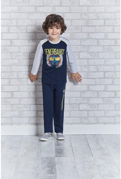 Fenerbahçe Lisanslı Genç Erkek Pijama Takımı Lacivert