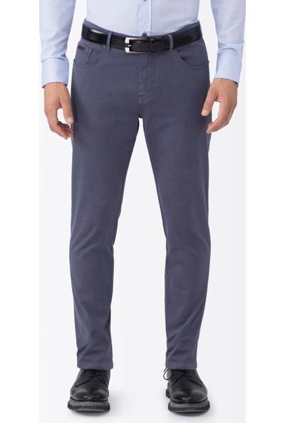 Hemington Mavi Slim Fit Kanvas Spor Pantolon