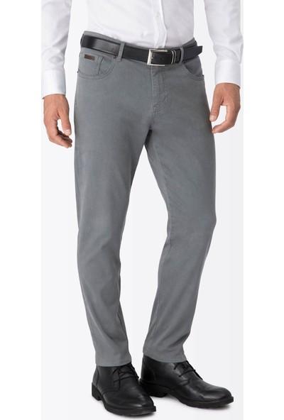Hemington Gri Slim Fit Kanvas Spor Pantolon