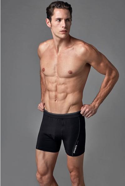 Eros Erkek Boxer Siyah