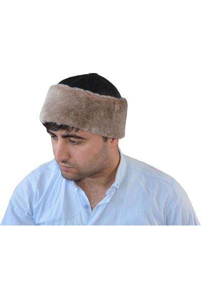 Pozze Deri Çeçen Kalpağı - Kışlık Erkek Deri Şapka