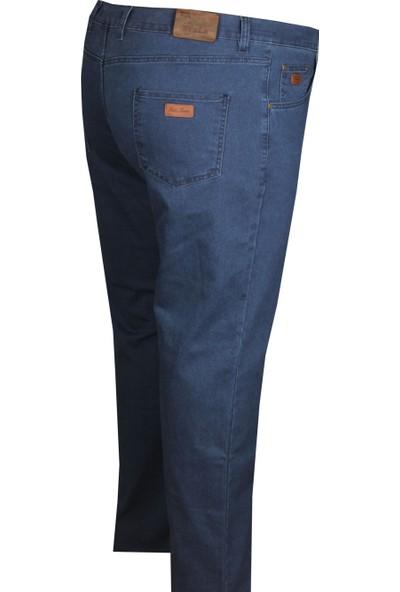Fala Jeans Büyük Beden Kot Pantolon Açık Lacivert