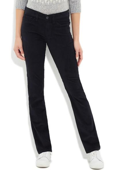 Mavi Mona Siyah Kadife Pantolon