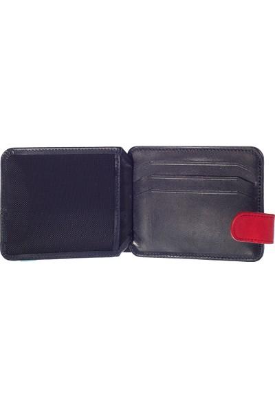 Pierre Cardin Hakiki Deri Kartlık 3Pc090510U-006 Laci-Kırmızı