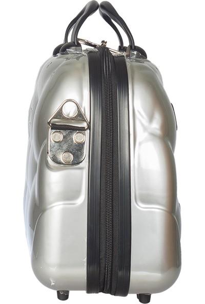 NK Polycarbonate Makyaj Çantası Nk025-Makyaj Gümüş
