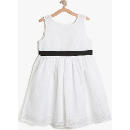 25f359edc4ab7 Koton Kız Çocuk Rahat Kesim Elbise Beyaz Fiyatı