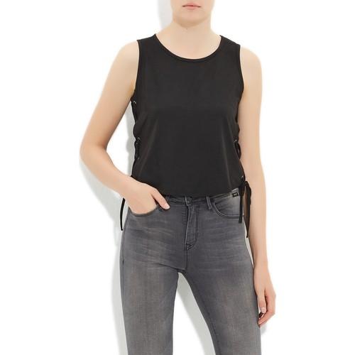 Mavi Siyah Kolsuz T-Shirt