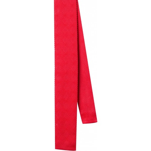 La Pescara Kırmızı Düz Örgü Kravat 8038