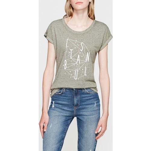 Mavi Kadın Kuşlar İstanbul T-Shirt
