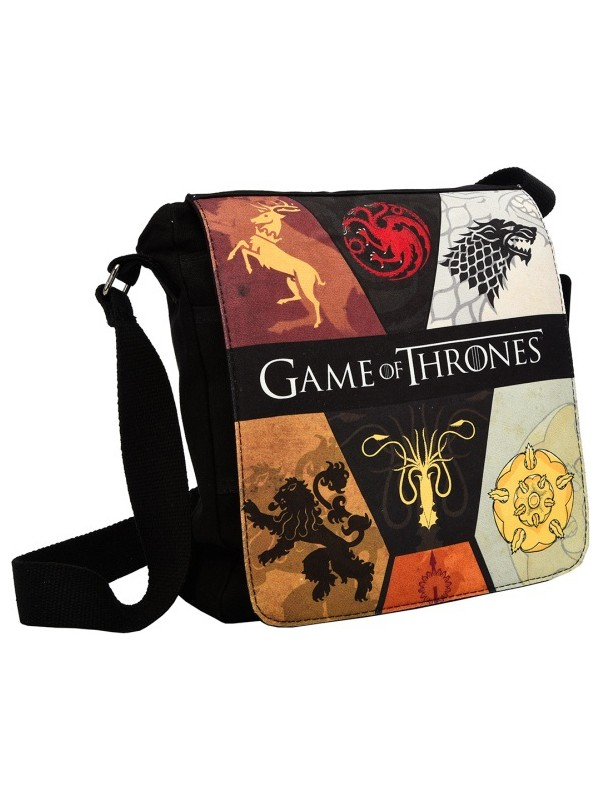 Game Of Thrones Yan Çapraz Çanta - Hanedanlar Siyah Got112