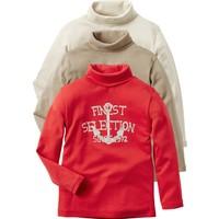 Vertbaudet Erkek Çocuk Balıkçı Yaka 3'lü Tshirt