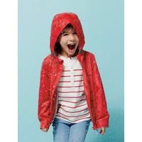 Vertbaudet Çocuk Kırmızı Desenli Yağmurluk