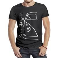 El Yapımı Kişiye özel motor temalı tişört